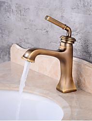 Centersat Et Hul Antik Kobber , Håndvasken vandhane