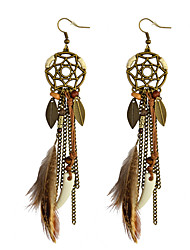 Women's Drop Earrings Rhinestone Basic Unique Design Dangling Style Tassel Geometric Friendship Fashion USA Bohemian British Chrismas