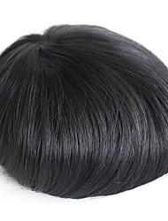 Parrucca reale dei capelli umani del toupee degli uomini per l'uomo # 1 parrucca degli uomini dei capelli umani