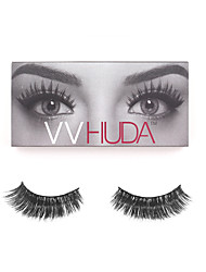 VVHUDA LASHES Fake Eyelashes False Mink Eyes Lash Handmade Black Long Thick Charming Daily Party Makeup Lady Beauty Naomi