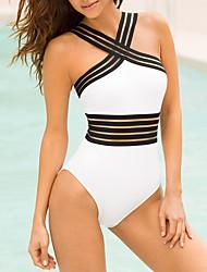 cheap -Women's Solid Solid Bandeau One-piece Swimwear White