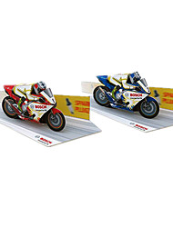cheap -3D Puzzles Jigsaw Puzzle Toy Motorcycles Paper Craft Moto Furnishing Articles DIY Classic Motorcycle Race Car Kid's Unisex Gift