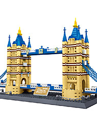 cheap -Building Blocks Toys Square Famous buildings Architecture Pieces Unisex Boys Birthday Gift
