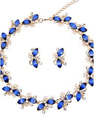 cheap -Women's Rhinestone Jewelry Set - Classic / Vintage / Euramerican Taper Shape Dark Blue Jewelry Set / Bridal Jewelry Sets / Necklace /