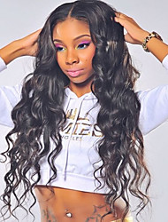 cheap -New & Hot ! Loose Wave 360 Lace Wig 150% Density Human Virgin Hair Black Color Wig with Baby Hair For Black Women