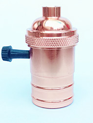 E27 Rose Gold Lamp Holder Knob Switch