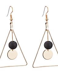 abordables -Mujer Pendientes colgantes Obsidiana Geométrico Moda Madera Legierung Triángulo Forma de Círculo Joyas Diario Cita Joyería de disfraz