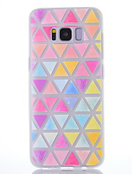 Case For Samsung Galaxy S8 S8 Plus Case Cover Color Geometry Pattern Scrub Translucent Thicker TPU Material Soft Case Phone Case