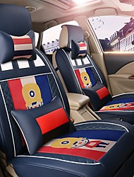 Car Seat Cushion Car Seat Cover Family Car Leather Seat Cover Four General--French Blue