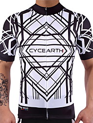cheap -Cycling Jersey Men's Women's Short Sleeves Bike Jersey Top Fast Dry Reduces Chafing High Elasticity Lightweight Spandex 100% Polyester