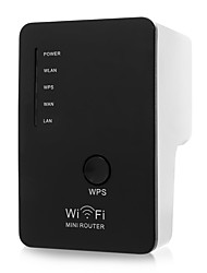 300Mbps Mini Portable Wirless USB WiFi Repeater Network WiFi Extender Range Expander Router 802.11 b/g /n with Dual Antennas