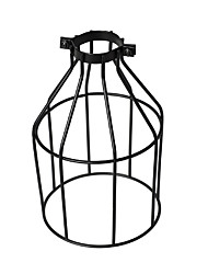 cheap -Vintage Industrial DIY Black Metal Bird Cage Lamp Shade Lighting Cover for Pendant Lights Wall Lights Replacement Lamp Cover
