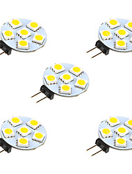 1W G4 Luces LED de Doble Pin 6 leds SMD 5050 Blanco Cálido Blanco 68lm 3000-3500/6000-6500K DC 12V