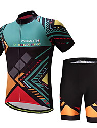 cheap -Men's Short Sleeves Cycling Jersey with Shorts Bike Clothing Suits
