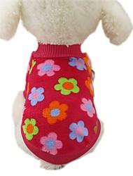 preiswerte -Hund Mäntel T-shirt Pullover Hundekleidung Lässig/Alltäglich Modisch Streifen Rose Braun Rot Blau Streifen Kostüm Für Haustiere