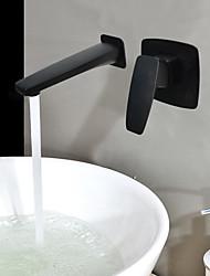 abordables -Montage mural Soupape céramique 2 trous Bronze huilé, Robinet lavabo