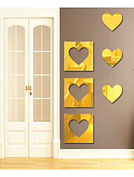 cheap -Decorative Wall Stickers - Mirror Wall Stickers Abstract / Shapes / 3D Living Room / Study Room / Office / Kids Room