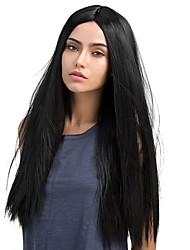 cheap -MAYSU Women Synthetic Wig Long Straight Dark Black Natural Wigs Costume Wig