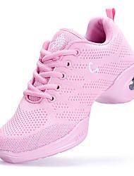 Da donna Sneakers da danza moderna Tulle Sneaker Addestramento Quadrato Bianco Nero Rosa 2,5 - 4,5 cm Personalizzabile