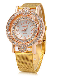 cheap -Women's Fashion Watch Chinese Quartz Large Dial Metal Band Luxury Sparkle Gold