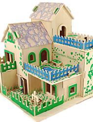 Недорогие -3D пазлы Пазлы Деревянные игрушки Наборы для моделирования Знаменитое здание Лошадь Своими руками Дерево Классика Универсальные Подарок