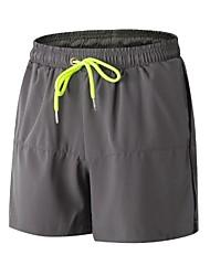 baratos -Homens Shorts de Corrida com Fenda - Preto, Cinzento, Fruta verde Esportes Shorts / Shorts largos Roupas Esportivas Leve, Fitness,