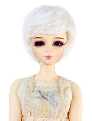 Mulher Perucas sintéticas Ondulado Branco boneca peruca Perucas para Fantasia