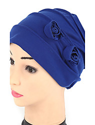 cheap -Women's Fashion Handmade Flowers 7 Colors To Choose  Turban Hair Wrap Sun Cap