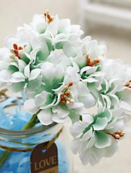 baratos -Flores artificiais 1 Ramo Moderna / Modern Plantas Flor de Mesa