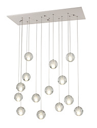 cheap -Remoter Dimming 14 Lights DC12V G4 Crystal Pendant Lights for Living Room Dinnning Room Stairs Lamp