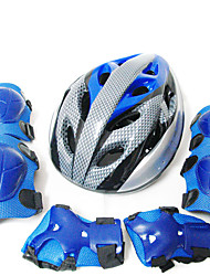Kids' Protective Gear Knee Pads + Elbow Pads + Wrist Pads Skate Helmet for Ice Skating Skateboarding Inline Skates Shock Proof Scratch