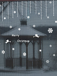 cheap -Window Film Window Decals Style Merry Christmas Angel PVC Window Film