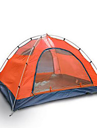 cheap -3-4 persons Tent Double Camping Tent Fold Tent Keep Warm Rain-Proof for Camping / Hiking Other Material CM