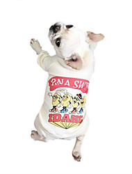 preiswerte -Hund T-shirt Hundekleidung Atmungsaktiv Lässig/Alltäglich Buchstabe & Nummer Weiß Grau Grün Kostüm Für Haustiere