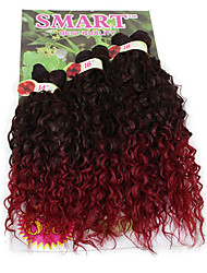 6pieces/pack brazilian curly hair wavy weave synthetic heat resistant fiber kinky curly hair budhuman feelling 14 16 18 inch in one pack