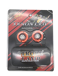 1 Pair 10W LED Strobe Light Red Color