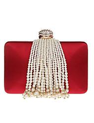 preiswerte -Damen Taschen PU Abendtasche Strass Perlen Verzierung für Hochzeit Veranstaltung / Fest Formal Ganzjährig Champagner Schwarz Rote