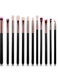 cheap -YZIMENG® 15pcs Black Makeup Brushes Set Professional Eyeshadow/Lip/Eyebrow/Concealer Portable Synthetic Hair Make Up for Face