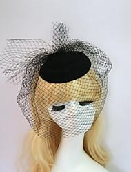 baratos -Resina / Algodão Fascinadores / Chapéus com 1 Casamento / Ocasião Especial / Halloween Capacete
