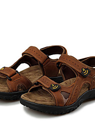 cheap -Men's Shoes Nappa Leather Summer / Fall Comfort Sandals Water Shoes Light Brown / Dark Brown / Khaki