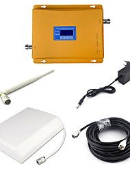 2G GSM 900mhz 4G DCS 1800mhz Dual Band Signal Booster Mobile Phone Signal Repeater with Panel Antenna / Whip Antenna / 15m Cable / Golden