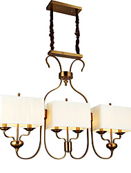 cheap -Pendant Light ,  Traditional/Classic Antique Brass Feature for Mini Style Metal Dining Room Study Room/Office