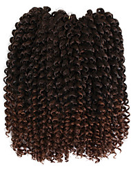 cheap -10'' Natural havana mambo crochet curly braid hair 3pc/pack Synthetic kinky curly braiding hair Savana 3X Braid hair freetress wand curly hair