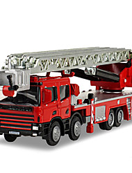 cheap -KDW Toy Cars Die-Cast Vehicles Toys Motorcycle Train Fire Engine Vehicle Toys Rectangular Train Fire Engines Metal Alloy Iron Pieces