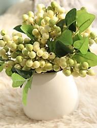Недорогие -ягоды симуляция коричневый рис побеги фасоль поддельный цветок экспорт домашнее украшение