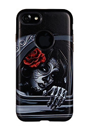 cheap -Case For Apple iPhone 7 7 Plus Case Cover Window Girl Pattern PC TPU Combo Strong Relief Drop Phone Case For iPhone 6S 6 Plus