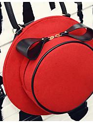 Donna Sacchetti Per tutte le stagioni PU (Poliuretano) Borsa a tracolla per Casual Nero Rosso