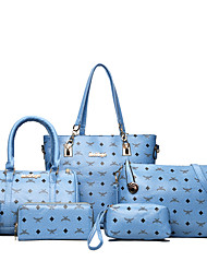 cheap -Women Bags PU Bag Set for Wedding Event/Party Casual Formal Office & Career All Seasons Blue Green White Black Red