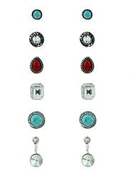 preiswerte -Damen Ohrstecker Ohrringe Set Kreisförmiges Simple Style Modisch Metalllegierung Metal Aleación Schmuck FürLässig/Alltäglich Verabredung