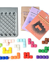 baratos -Jogos de Tabuleiro Jogos Pai e Filhos Brinquedos Smart inteligente Quadrada Plásticos Peças Crianças Dom